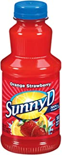 Sunny Delight Orange Fused Strawberry Beverage, 16 Ounce Bottle, Pack of 12