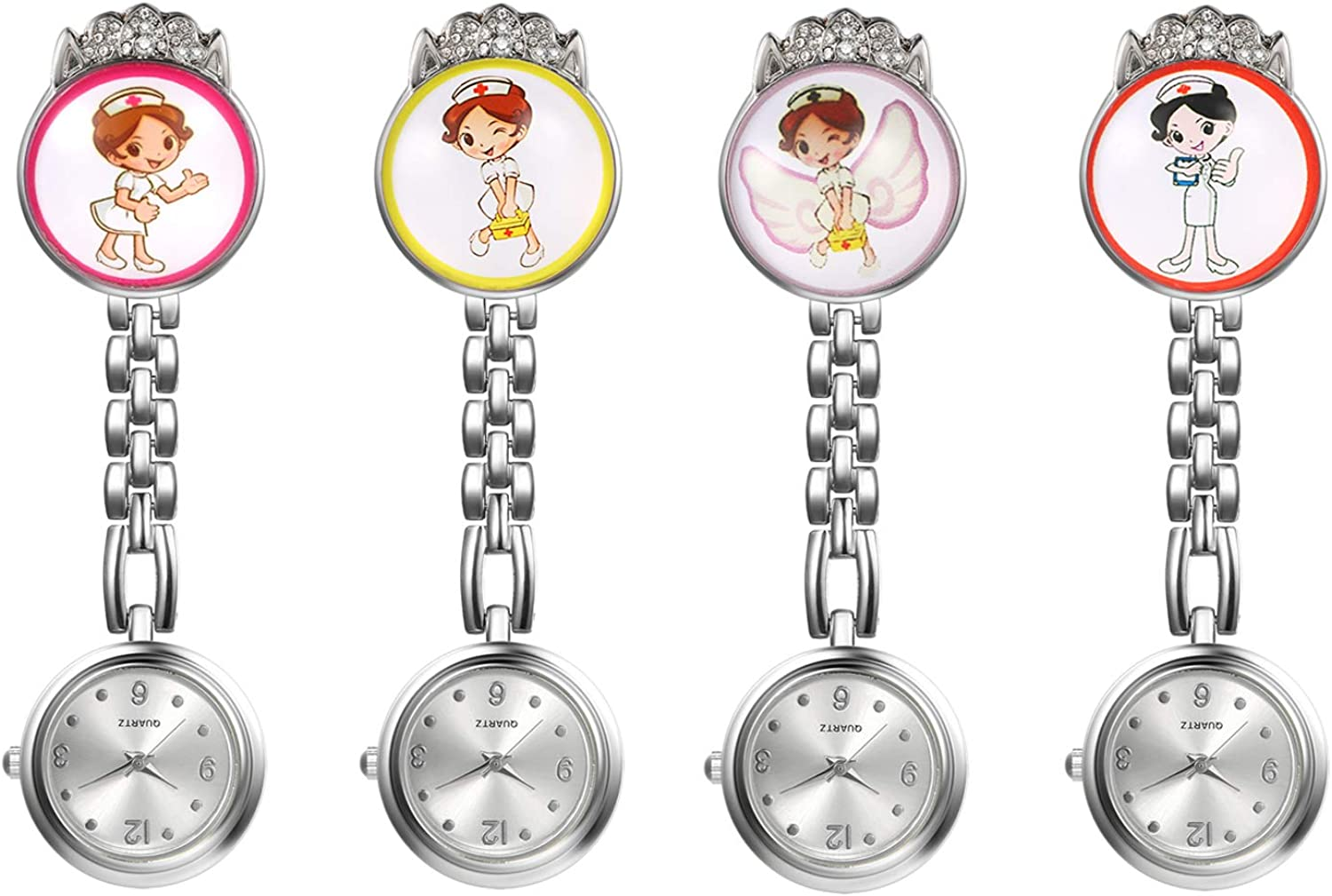 1-4 Pack Max Max 90% OFF 80% OFF Nurse Watch for Women and on Clip Lapel Hanging Doctors