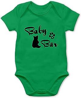 Shirtracer - Strampler Motive - Baby Bär Lettering - Baby Body Kurzarm für Jungen und Mädchen