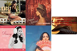 Kacey Musgraves Complete Discography 4 CD Studio Album Collection with Bonus Art Card (Same Trailer Different Park / Pageant Material / A Very Kacey Christmas / Golden Hour)