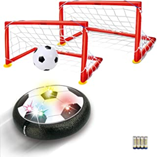 Kids Toys Hover Soccer Ball - LED Air Power Soccer Set with 2 Goals and an Inflatable Ball, Indoor Outdoor Sport Ball Training Games, Soccer Toys for 2 3 4 5 6 7 8- 12 Year Old Boy Girl Best Gifts