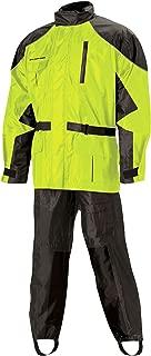 Nelson Rigg Unisex Adult AS-3000-HVY-06-3XL Aston Motorcycle Rain Suit 2-Piece, (Hi-Visibility Yellow, XXX-Large)