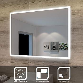 Badezimmerspiegel Mit Beleuchtung Led Spiegel 80x60 Cm