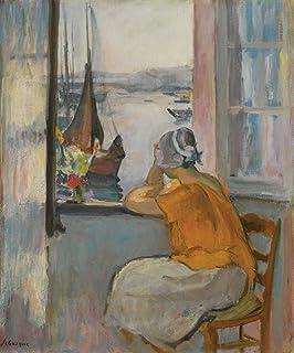 The Museum Outlet jeune femme par la fenêtre de visualisation vers l'île d'Yeu, 1920–Toile (61x 81,3cm)