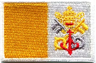 Flag of Vatican City Rome Roma Italy Catholic embroidered applique iron-on patch new size Medium