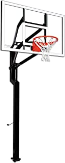 Goalsetter All-American In Ground Adjustable Basketball System with 60-Inch Glass Backboard - Multiple Rim Options