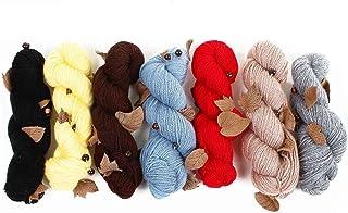 Pelote de fil à tricoter perles et feuilles