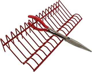 ABN Heavy-Duty Metal Multi Tool Holder Organizer Tray Rack in Red for 16 Pliers and Other Hand Tools Storage