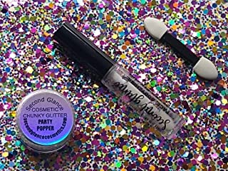 Second Glance Chunky Cosmetische Glitter Fix Kit, Party Popper, 0.02199999999999999999 kg