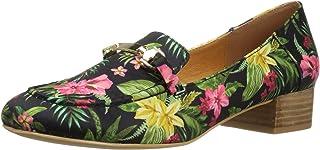 N.Y.L.A. Women's Locker Slip-Loafer, (Black Floral), 6