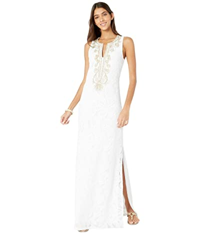 Lilly Pulitzer Carlotta Maxi Dress (Resort White Wildflower Stripe Lace) Women