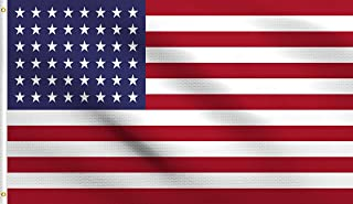DMSE 48 Star USA United States America American 1912 Flag 3X5 Ft Foot 100% Polyester 100D Flag UV Resistant (3' X 5' Ft Foot)