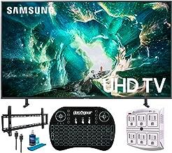 "$777 » Samsung UN55RU8000 55"" RU8000 LED Smart 4K UHD TV (2019 Model) (Renewed) + w/Flat Wall Mount Kit Bundle for 37-70 TVs + 2.4GHz Wireless Backlit Keyboard Smart Remote + 6-Outlet Surge Adapter"
