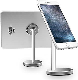 Licheers スマホスタンド マグネット タブレット 卓上 ホルダー おしゃれ 強力 アルミ Android/iPhone/iPadなど対応 シルバー (LC01-SL)
