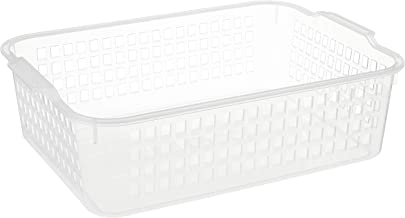 Inomata 4518 Windy Wide Basket, Clear