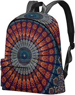 Mochila Casual Mujer Hipple India Bohemia Mandala Mochilas Escolares Grandes Mochila Mochila para Viajes Senderismo