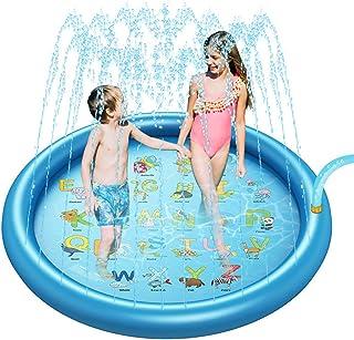 """KISSOURBABY Sprinkler Splash Play Mat for Kids, Splash Pad for Wading and Learning, 66.5"""" Children Outdoor Water Sprinkler..."""