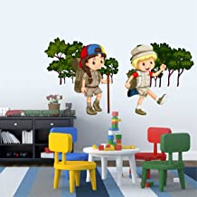 Rawpockets Kids Adventure Story' Wall Sticker (PVC Vinyl, 115 cm x 60cm)