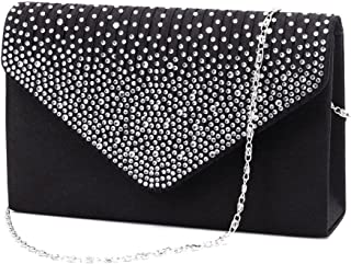 6aac81fec7c4 Nodykka Women Evening Envelope Handbag Party Bridal Clutch Purse Shoulder  Cross Body Bag