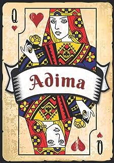 Adima: Taccuino A5 | Nome personalizzato Adima | Regalo di compleanno per moglie, mamma, sorella, figlia ... | Design: car...