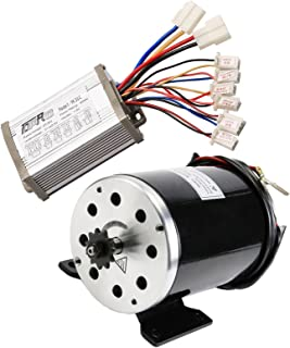 ZXTDR 36v 800w Brushed Speed Motor and Controller Set for Electric Scooter Go Kart Bicycle e Bike Tricycle Moped