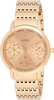 Guess Women's Gold Dial Stainless Steel Band Watch - W1088L2