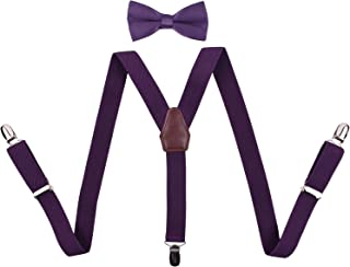 BODY STRENTH Boys Suspenders and Bow Tie Y Back Adjustable