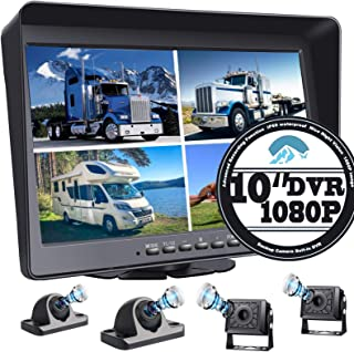 "$379 » Super Large 10.1"" Monitor Backup Camera Built-in DVR for RV Truck Trailer Rear Side Front Backing View Wired System 1080P ..."