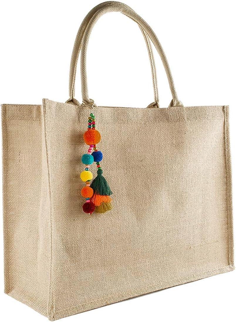 TANOSII Straw Beach Bag For Women Jute Handbag Handmade Woven Tote Bag