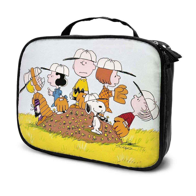 ベーコンチーム勝利したDaitu野球選手スヌーピー 化粧品袋の女性旅行バッグ収納大容量防水アクセサリー旅行