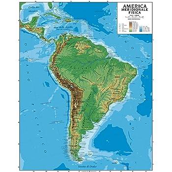 Cartina Politica Del Sud Italia.Carta Geografica Murale America Meridionale 100x140 Bifacciale Fisica E Politica Amazon It Cancelleria E Prodotti Per Ufficio