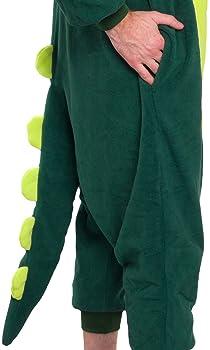 Silver Lilly Unisex Adult Pajamas - Plush One Piece Cosplay Animal Dinosaur Costume