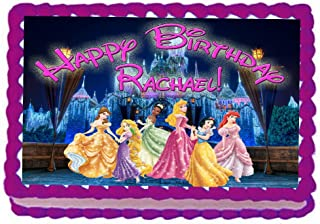 Princess Castle 1/4 Sheet Edible Photo Birthday Cake Topper~ Personalized!