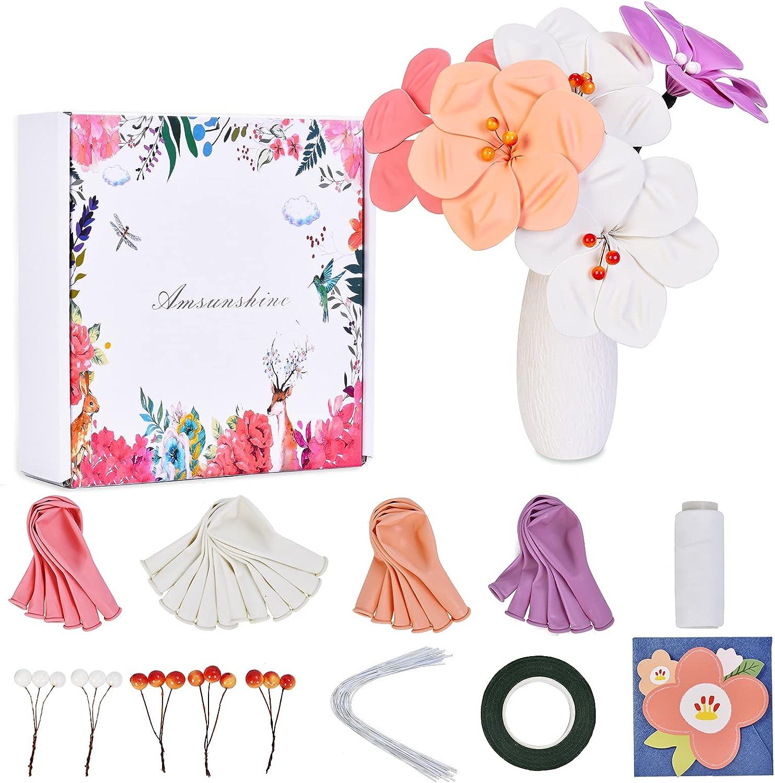 Amsunshine Flower Craft Kit for Kids   Flower Art Kits DIY Make Your Own  Flower Bouquet with Balloon,for Arts and Crafts for Kids Teens and Crafts  for ...
