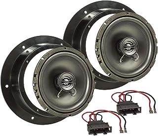 tomzz Audio 4057 004 Lautsprecher Einbau Set Kompatibel mit VW Golf 5 V Passat 3G Touran Caddy Tür vorne 165mm Koaxial System TA16.5 Pro