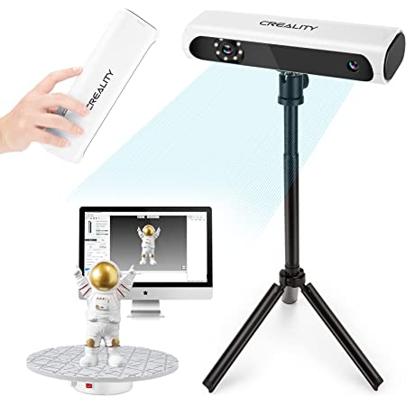 Creality Upgraded CR-Scan 01 3D Scanner Kit with Turntable and Tripod, Handheld & Turntable Dual-Mode, 0.1mm Accuracy, No Marker Quick Scanning, Affordable Professional Level 3D Printer Scanners