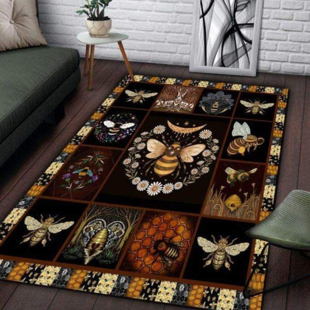 High quality Awesome Bee Home Decor In a popularity Area Rectangle Rug