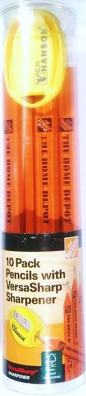 New Shipping Free Shipping Home Depot Marking Pencil with VersaSharp Sharpener 1 New York Mall - Pack 10