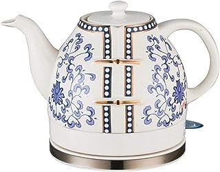 lkpqdwqz Bouilloire électrique sans Fil en céramique rétro, Pot 1L, thé instantané 1200W, Soupe au café, Flocons d'avoine,...
