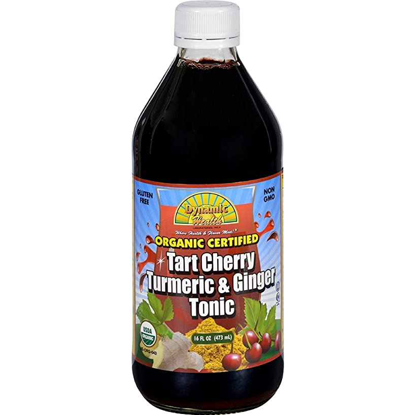 Dynamic Health Tonic - Tart Cherry Turmeric and Ginger - Organic Certified - 16 oz - Gluten Free - Immune Booster - Improve the absorbtion
