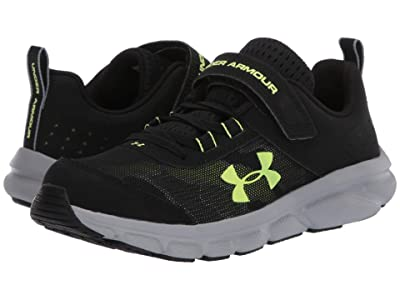 Under Armour Kids UA Assert 8 AC (Little Kid) (Black/X-Ray/Gravity Green) Boys Shoes