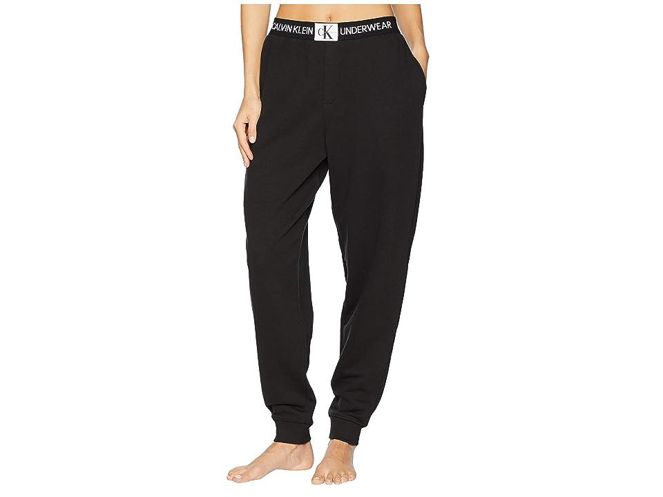 Calvin Klein Underwear Monogram Lounge Joggers (Black) Women