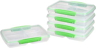 Sistema to Go Multi Split Meal & Food Prep Containers   with Dividers & Clips   820ml   BPA-Free   5 Food Storage Containe...