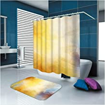 Epinki Polyester Shower Curtain Decorative Bathroom Accessories Colorful Fantasy Bathroom Curtain with 12 Hooks Size 165x1...