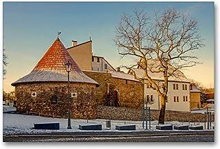 Premium textilduk 90 cm x 60 cm tvär, ett motiv från kalendern potthals i Saale-Orla-cirkeln | väggbild, bild på kil ram, ...