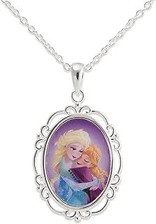 Frozen Princess Elsa Anna Hugging Sisters Pendant. Gift Boxed.
