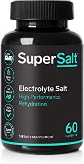 Keto Electrolyte Supplement, Salt Replacement Tablets for Rapid Oral Rehydration & Post Workout Recovery, Magnesium, Zinc, Sodium, Copper   60 Capsules   Stop Leg Cramps and Restore Energy