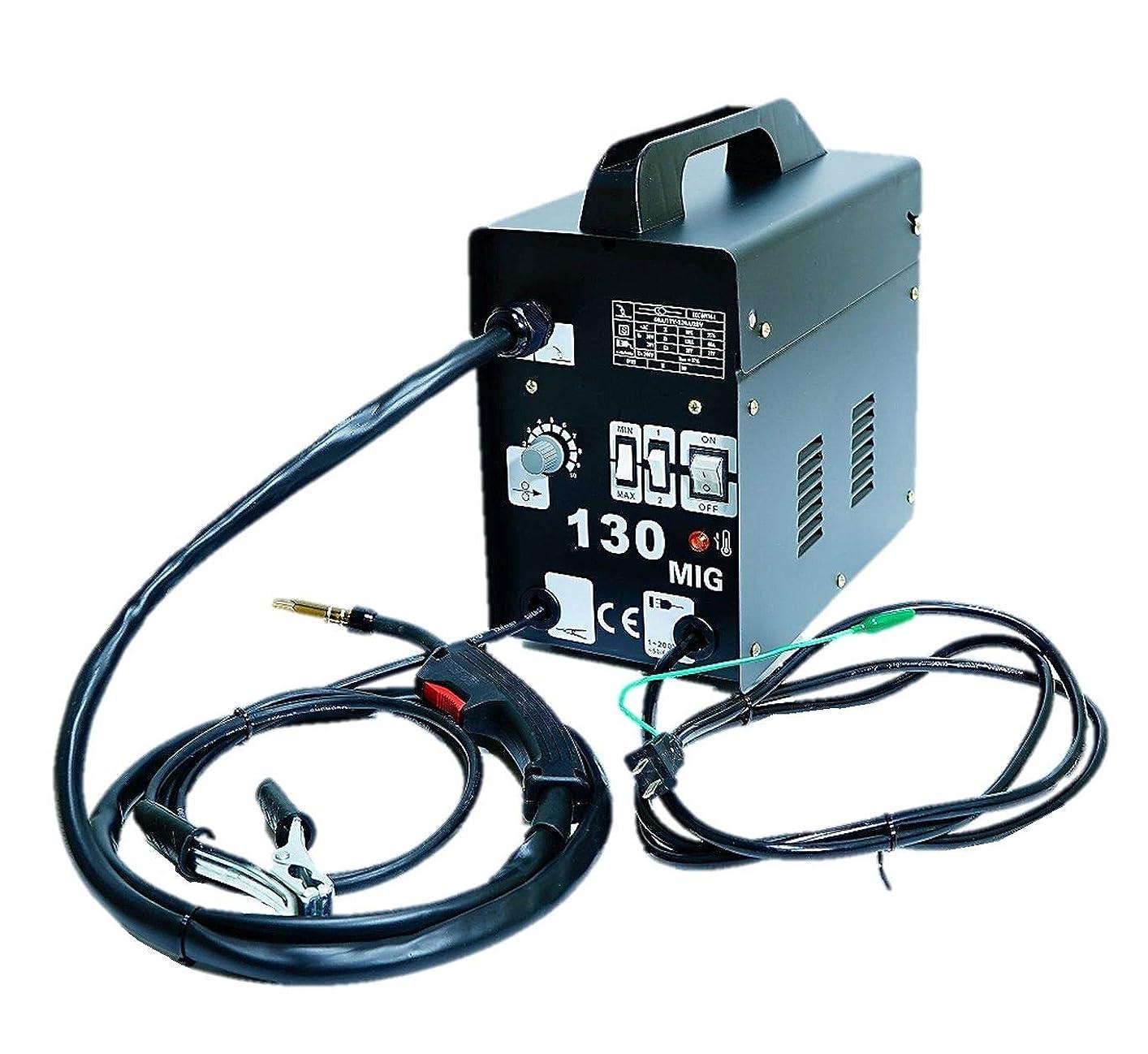 座標現象有益なガス不要な半自動溶接機 MIG130 単相100V ロングトーチケーブル仕様!鉄?ステンを御家庭でもお手軽に溶接!