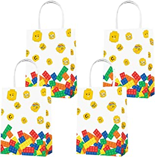 Party Favor Bags 16PCS for Building Blocks Gift Bags Goodie Bags Color Bricks Treat Candy Bags for Building Blocks Movie T...