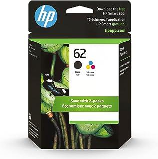 HP 62 | 2 Ink Cartridges | Black, Tri-color | Works with HP ENVY 5500 Series, 5600 Series, 7600 Series, HP OfficeJet 200, ...